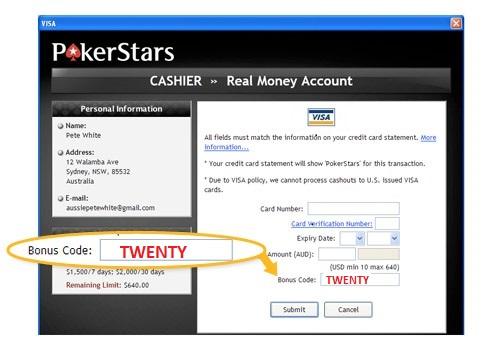 PokerStars Bonus Code